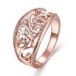 Vienna Jewelry Gold Plated Curved Iron Display Ring - Thumbnail 0