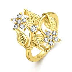 Vienna Jewelry Gold Plated Natural Branches Ring - Thumbnail 0