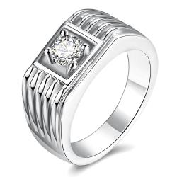 Vienna Jewelry Gold Plated Side Cut Crossover Ring - Thumbnail 0