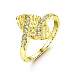 Vienna Jewelry Gold Plated Orchid of Life Ring - Thumbnail 0