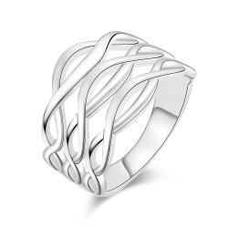 Vienna Jewelry White Gold Plated Horizontal Infused Ring - Thumbnail 0