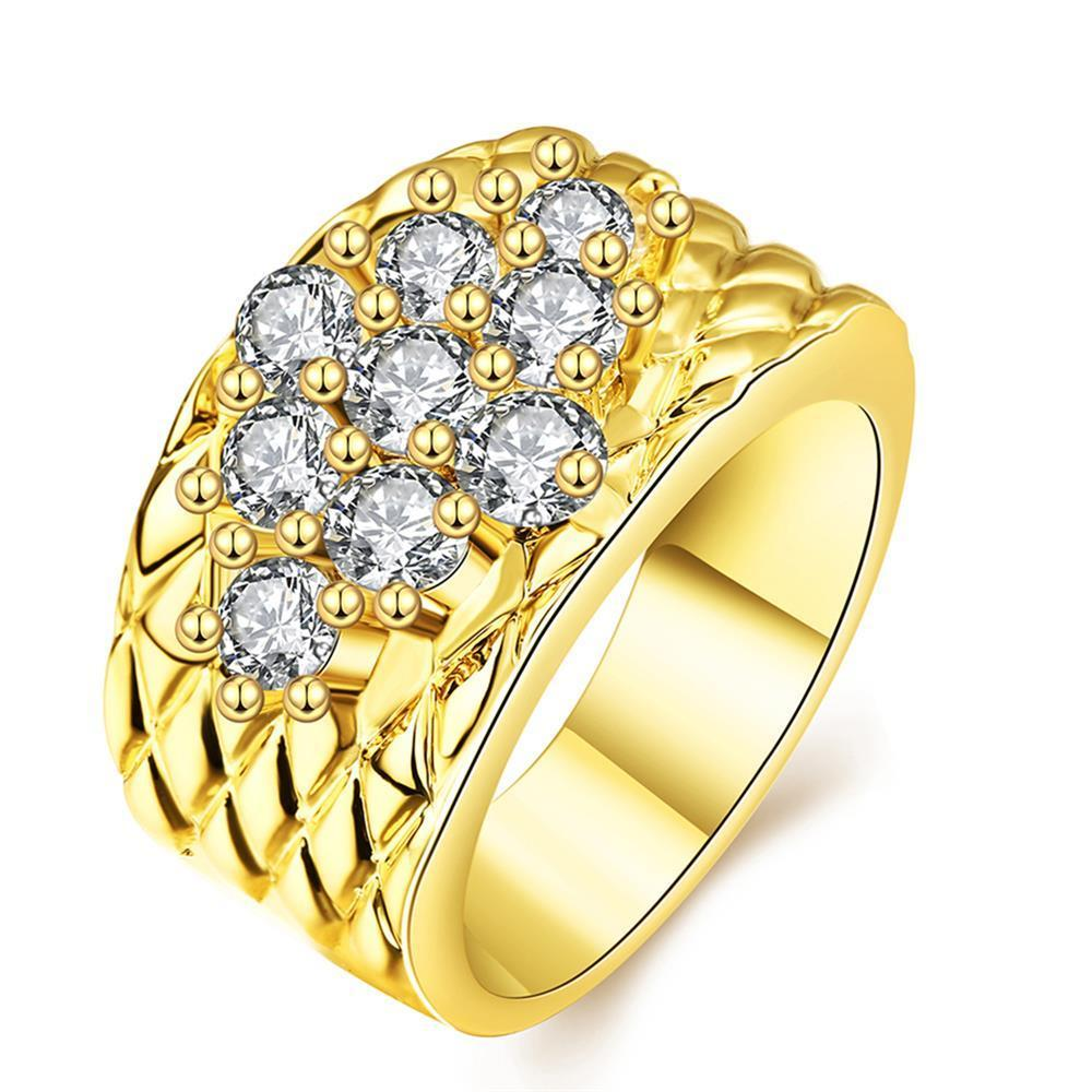 Vienna Jewelry Gold Plated Classic Royalty Inspired Ring
