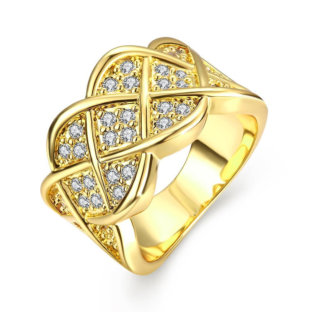 Vienna Jewelry Gold Plated Spiral Curved Modern Ring