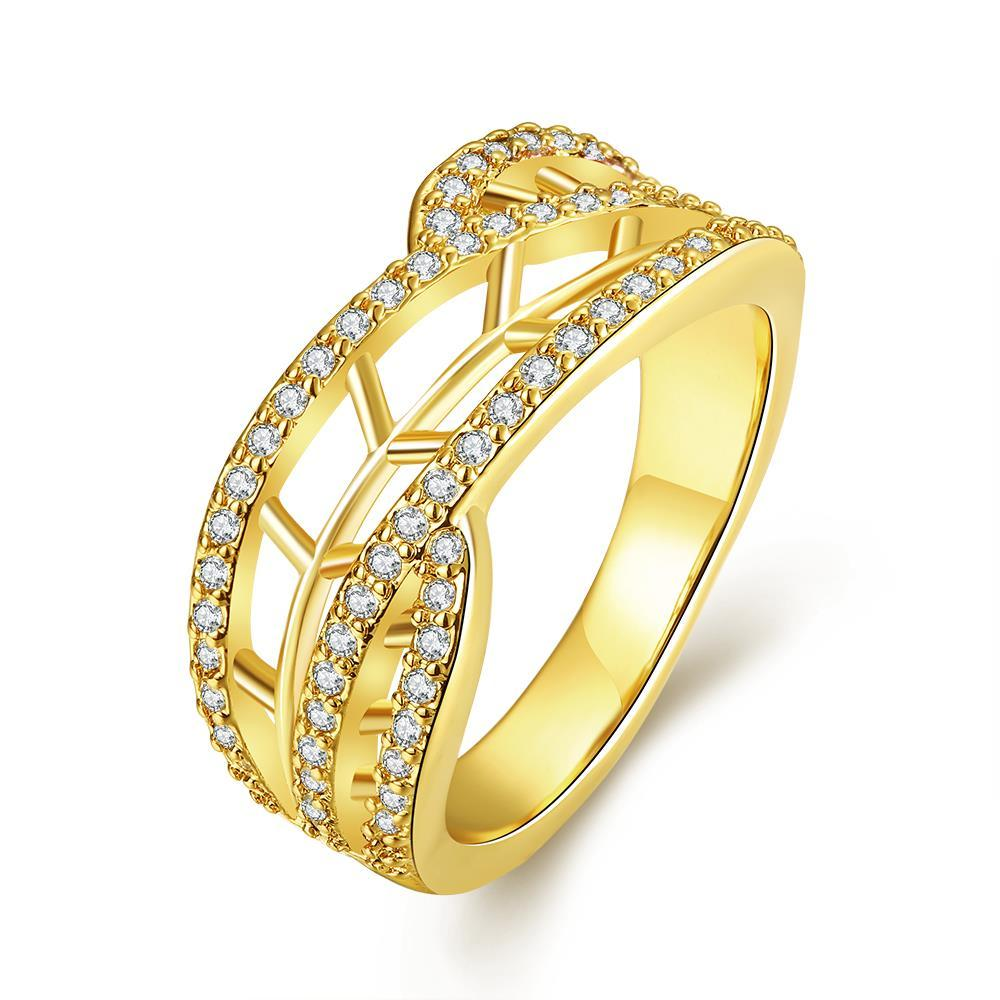 Vienna Jewelry Gold Plated Stariway to Heaven Ring