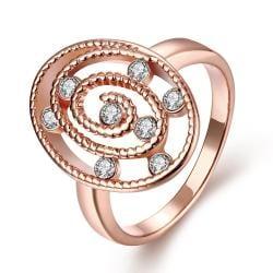 Vienna Jewelry Gold Plated Circular Crystal Ring - Thumbnail 0