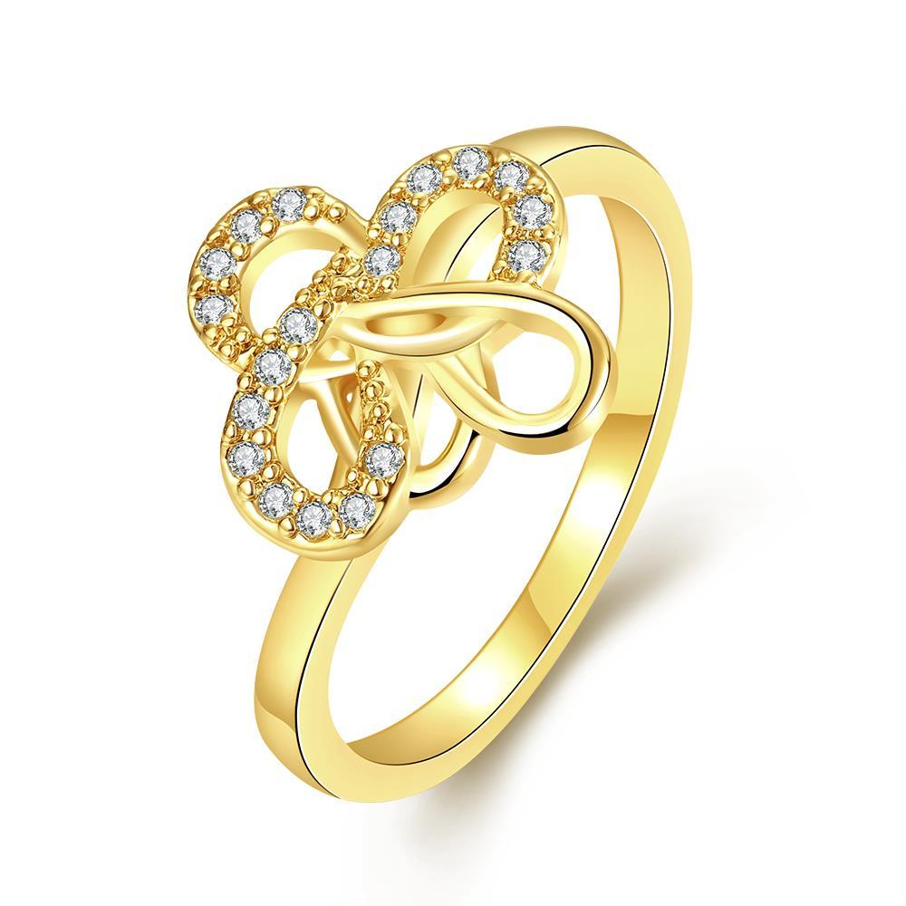 Vienna Jewelry Gold Plated Twisted Design Ring