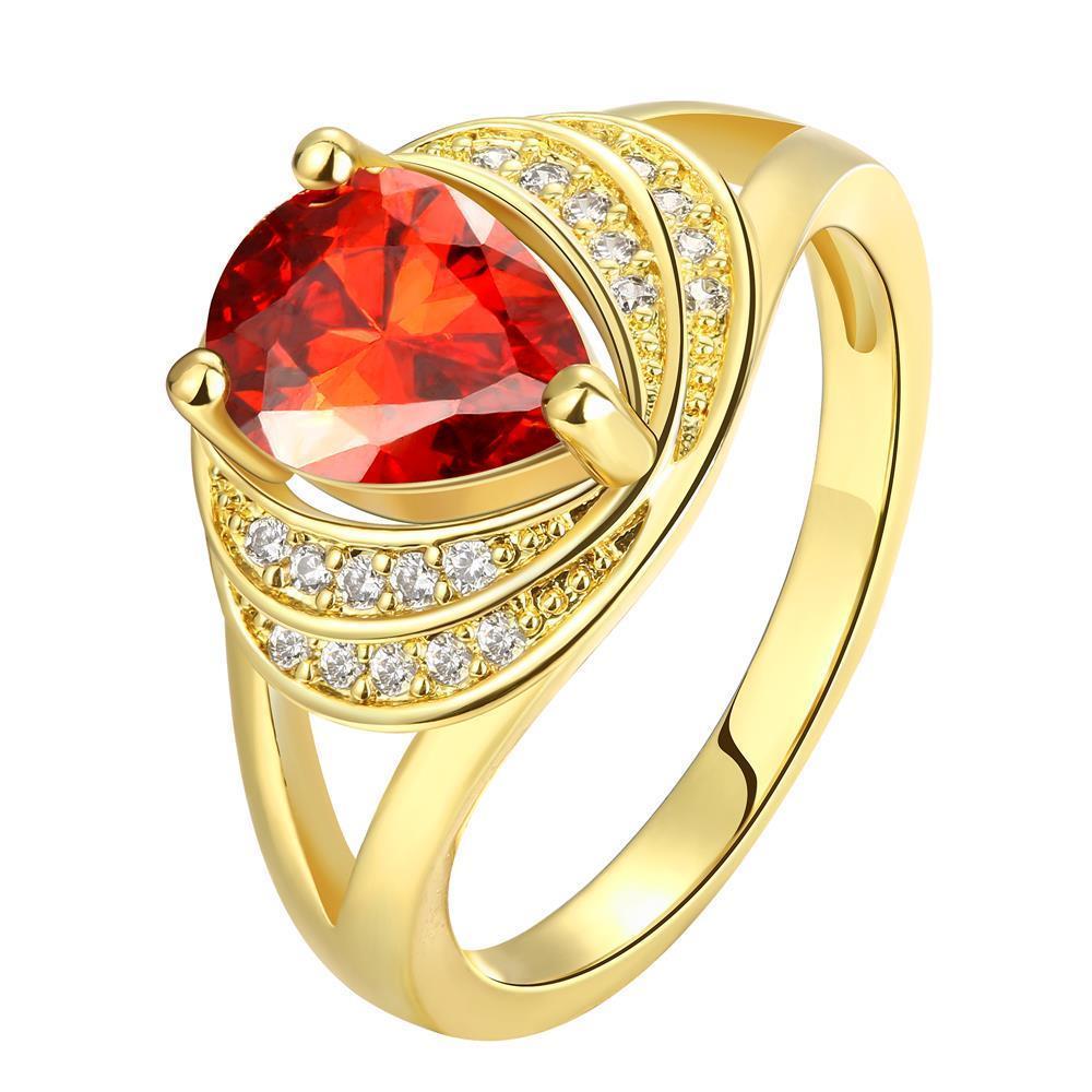 Vienna Jewelry Gold Plated Round Swirl Ring