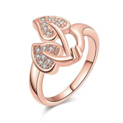 Vienna Jewelry Gold Plated Floral Leaf Ring - Thumbnail 0