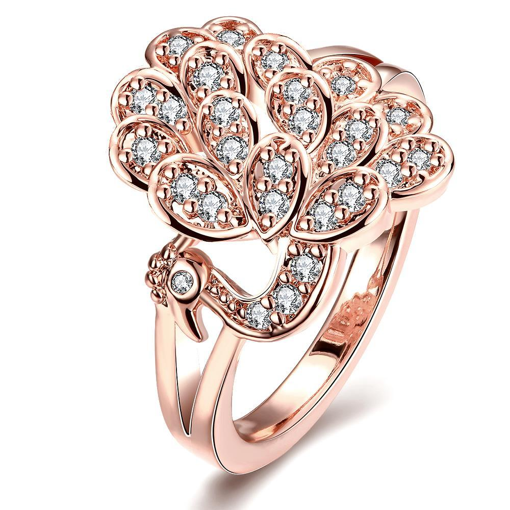 Vienna Jewelry Gold Plated Floral Blossom Ring