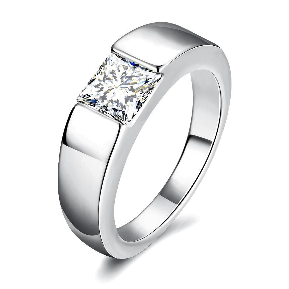 Vienna Jewelry Gold Plated Classic Design with Jewel Insert Ring