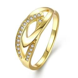 Vienna Jewelry Gold Plated Hollow Jewels Covering Ring - Thumbnail 0