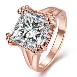 Vienna Jewelry Gold Plated Crystal Centerpiece Ring - Thumbnail 0