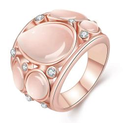 Vienna Jewelry Rose Gold Plated Mid Size Ivory Onyx Ring Size 8 - Thumbnail 0