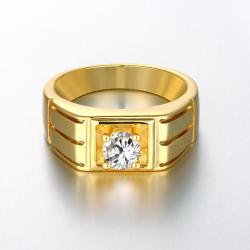 Vienna Jewelry Gold Plated Composite Princess-Cut Fashion Ring - Thumbnail 0