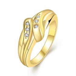 Vienna Jewelry Gold Plated Matrix Love Knot Ring - Thumbnail 0