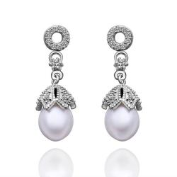 Vienna Jewelry Cultured Pearl Dangling Drop Earrings