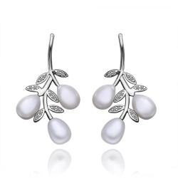 Vienna Jewelry Dangling Orchid Cultured Pearl Earrings