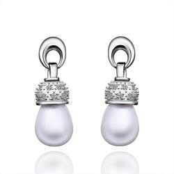 Vienna Jewelry Cultured Pearl Classic Dangling Drop Earrings