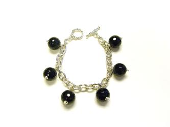 Goshawa Black Agate Bracelet