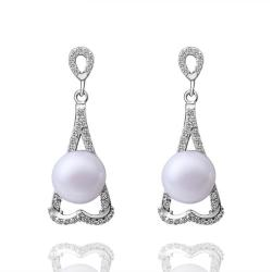 Vienna Jewelry Cultured Pearl Triangular Shaped Drop Earrings