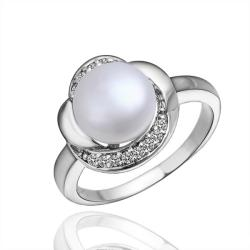 Vienna Jewelry White Gold Plated Blossoming Pearl Ring