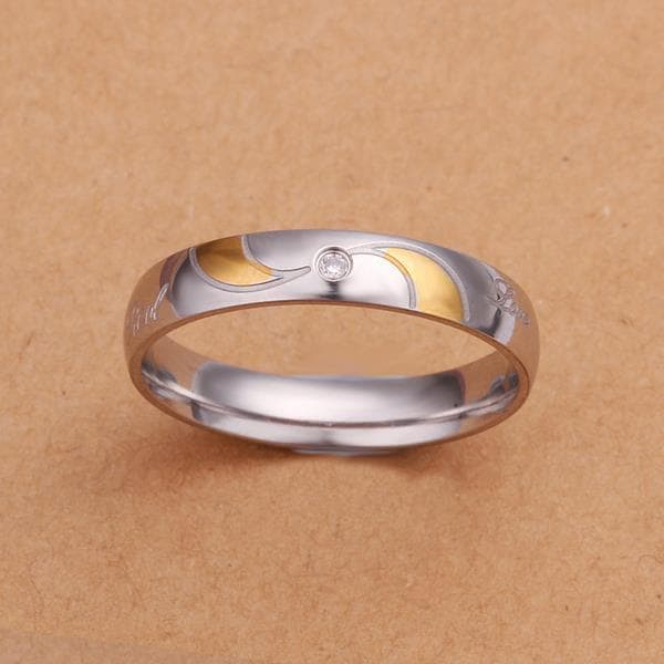 Vienna Jewelry Sterling Silver Gold Coloring Lining Ring Size: 8