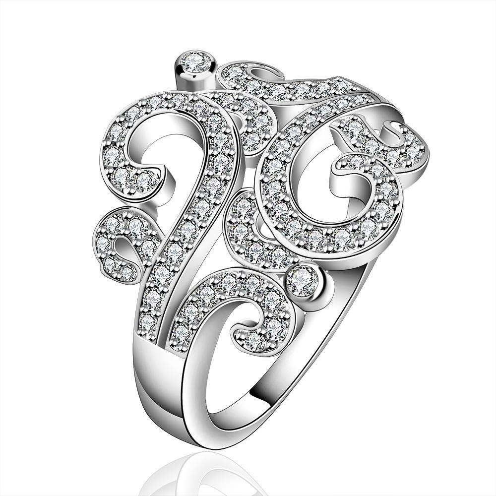Vienna Jewelry Sterling Silver Swirl Design Emblem Ring Size: 8