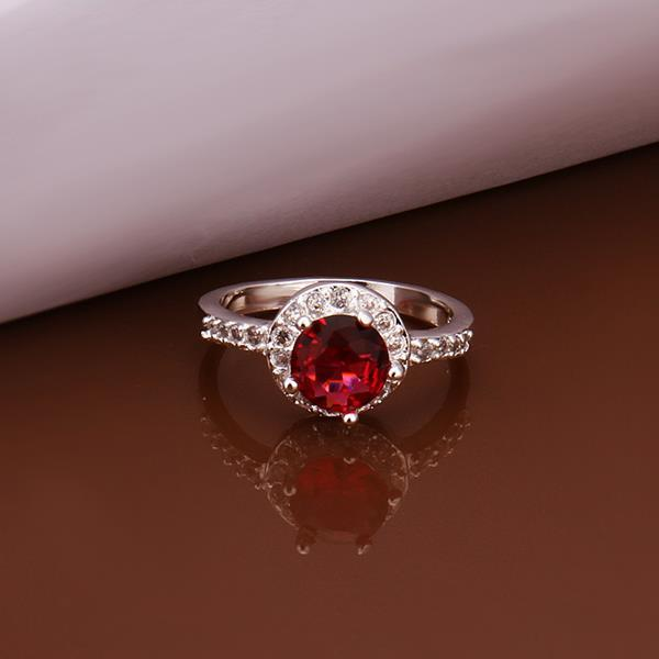 Vienna Jewelry Sterling Silver Mid Ruby Gem Jewels Covering Ring Size: 8