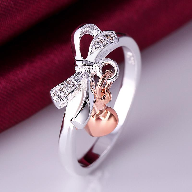 Vienna Jewelry Sterling Silver Infinite Charms Petite Ring Size: 8