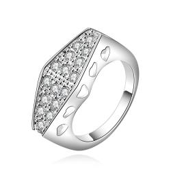 Vienna Jewelry Sterling Silver Crystal Filled Petite Ring Size: 7 - Thumbnail 0