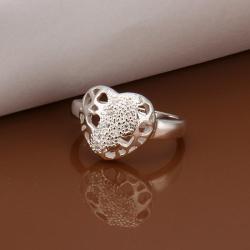 Vienna Jewelry Sterling Silver Laser Cut Circular Emblem Petite Ring Size: 8 - Thumbnail 0