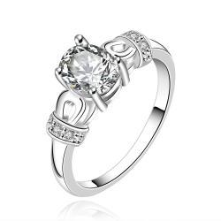 Vienna Jewelry Sterling Silver Mini Orange Citrine Gem Woven Petite Ring Size: 7 - Thumbnail 0