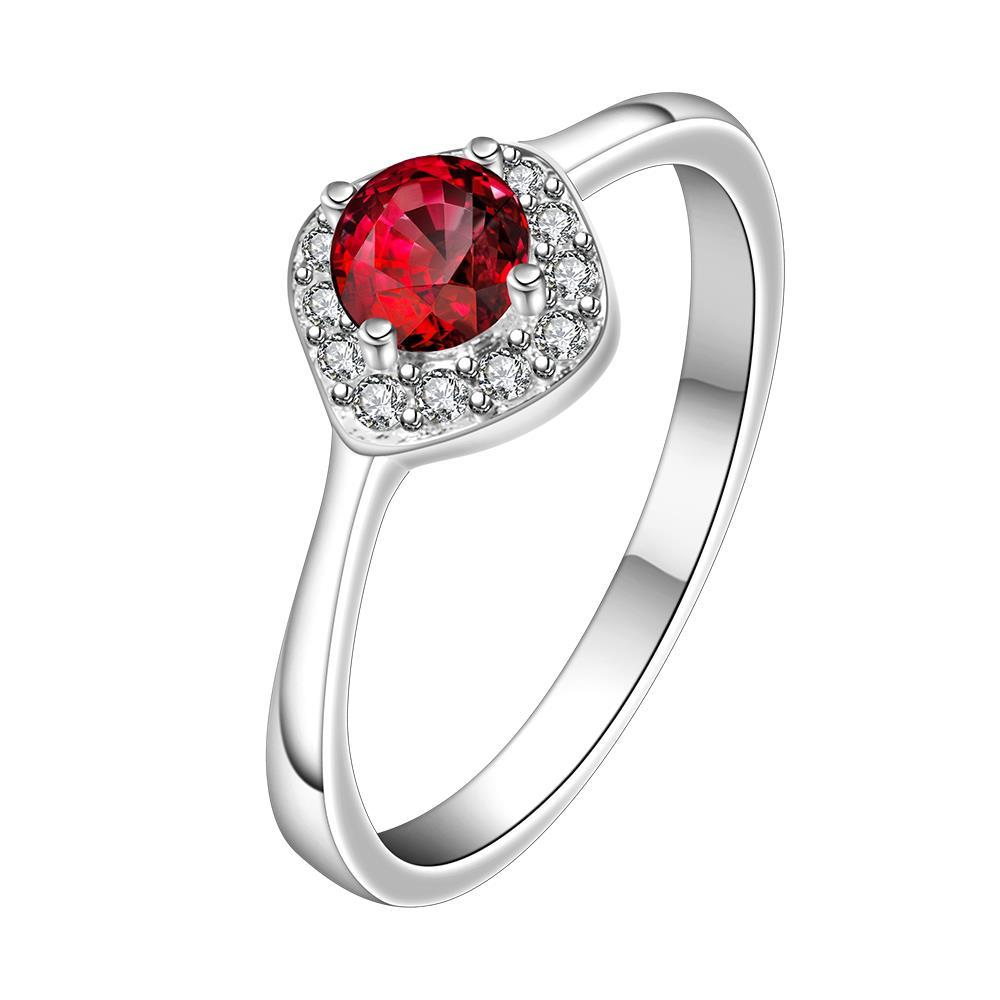 Vienna Jewelry Petite Ruby Red Gem Classic Ring Size: 8