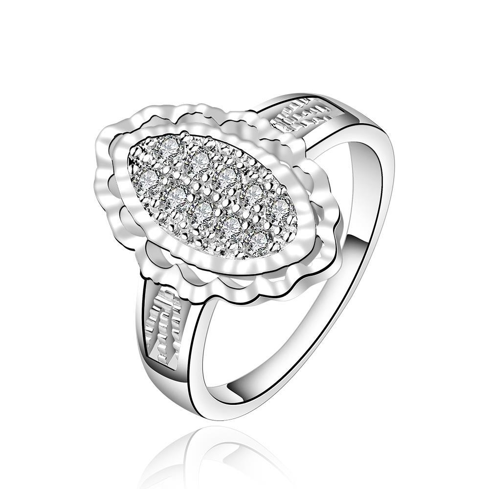 Vienna Jewelry Sterling Silver Crystal Filled Emblem Modern Ring Size: 7