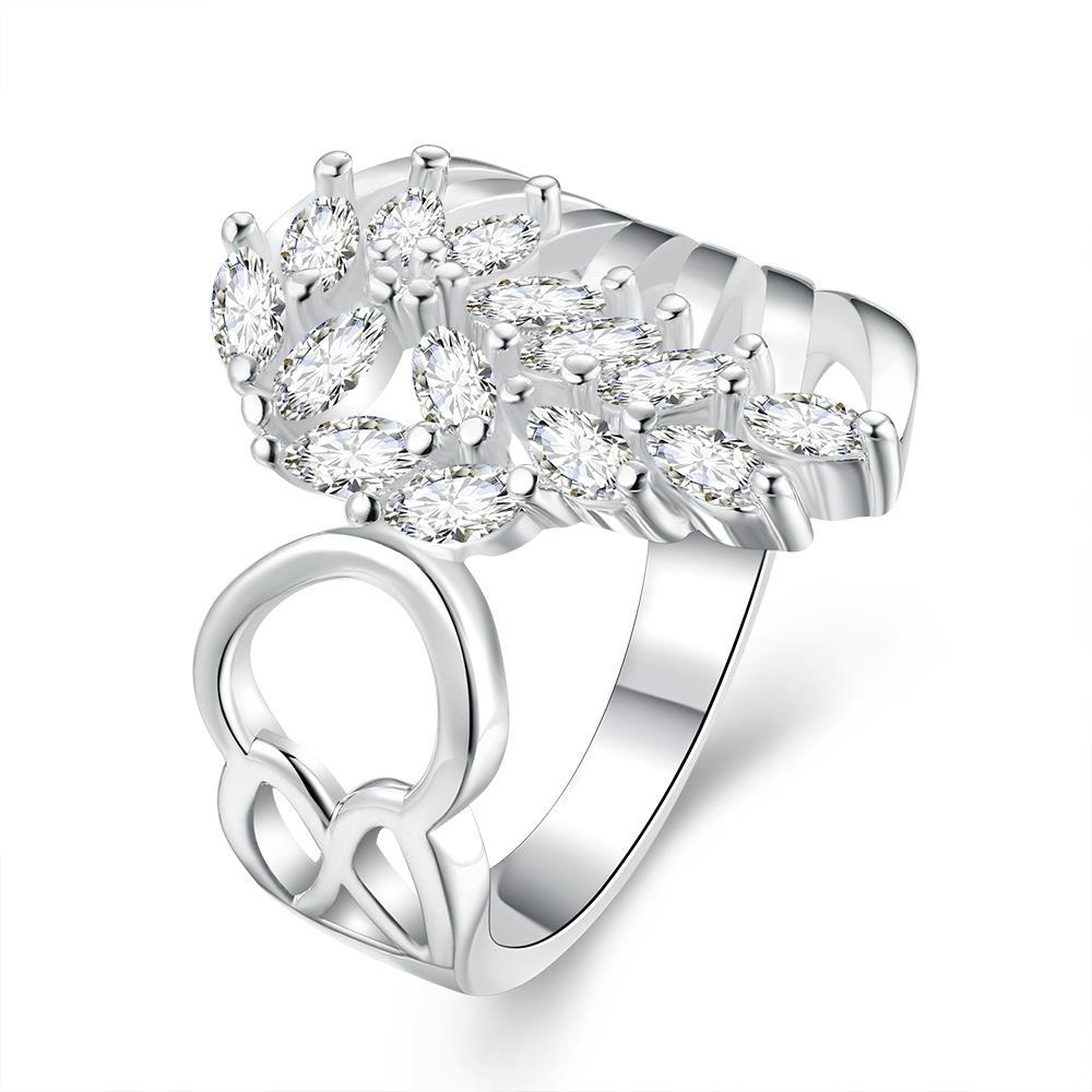 Vienna Jewelry Sterling Silver Floral Orchid Open Ring Size: 8