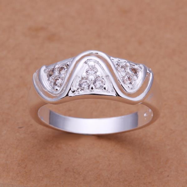 Vienna Jewelry Sterling Silver Laser Cut Swirl Design Petite Ring Size: 8
