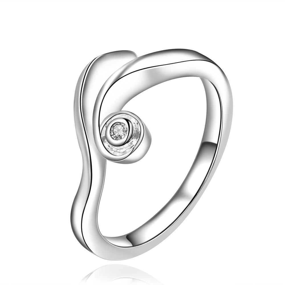 Vienna Jewelry Sterling Silver Curved Lining Modern Ring Size: 8