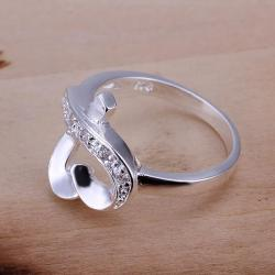 Vienna Jewelry Sterling Silver Infinite Heart Shaped Petite Ring Size: 8 - Thumbnail 0