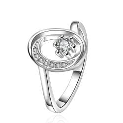 Vienna Jewelry Sterling Silver Classical Jewel Swirl Circular Emblem Ring Size: 8 - Thumbnail 0