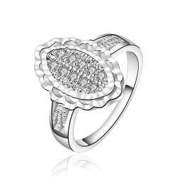 Vienna Jewelry Sterling Silver Crystal Filled Emblem Modern Ring Size: 8 - Thumbnail 0