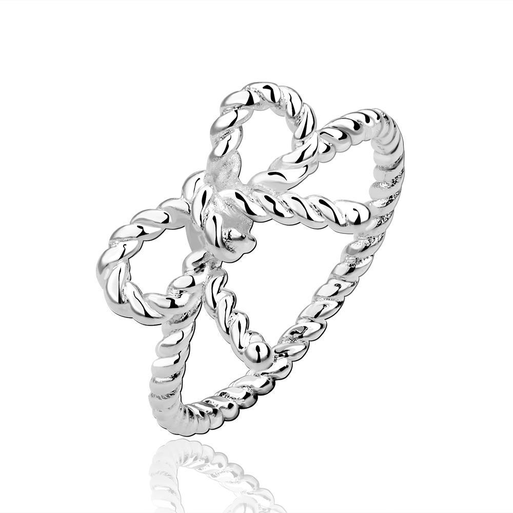 Vienna Jewelry Sterling Silver Intertwined Love-Knot Ring Size: 8