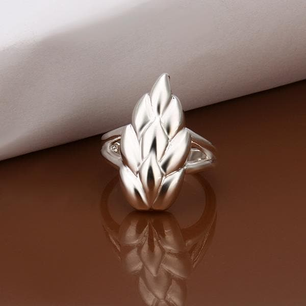 Vienna Jewelry Sterling Silver Floral Orchid Petite Ring Size: 8