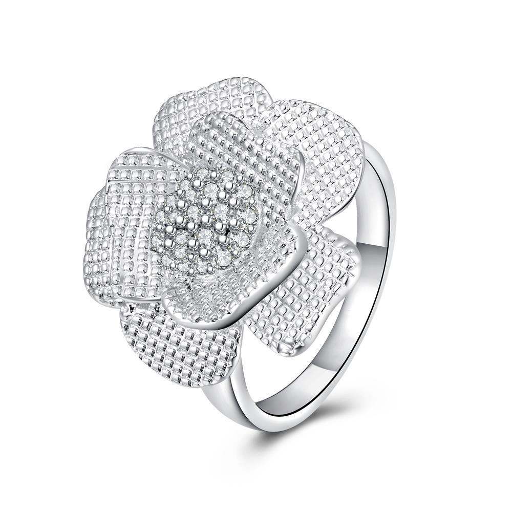 Vienna Jewelry Sterling Silver Blossoming Petal Petite Ring Size: 7