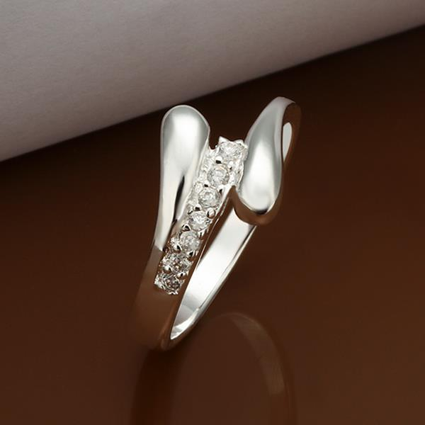 Vienna Jewelry Sterling Silver Matrix Jewels Covering Ring Size: 8