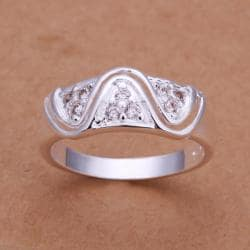 Vienna Jewelry Sterling Silver Laser Cut Swirl Design Petite Ring Size: 8 - Thumbnail 0