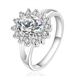 Vienna Jewelry Sterling Silver Crystal Center with Jewels Covering Ring Size: 7 - Thumbnail 0