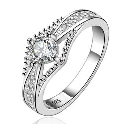 Vienna Jewelry Sterling Silver Jewels Layering Petite Ring Size: 7 - Thumbnail 0