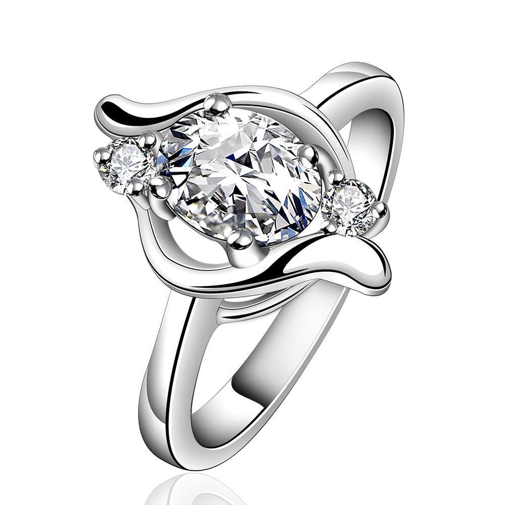 Vienna Jewelry Sterling Silver Orange Citrine Swirl Emblem Petite Ring Size: 8