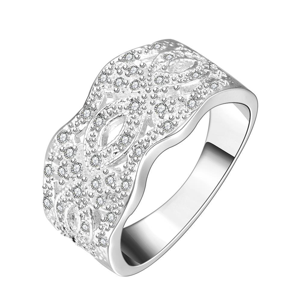 Vienna Jewelry Sterling Silver Curved New York Inspired Modern Ring Size: 8