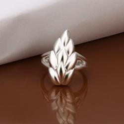 Vienna Jewelry Sterling Silver Floral Orchid Petite Ring Size: 8 - Thumbnail 0